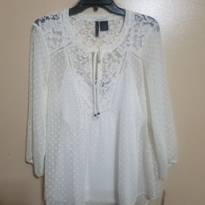 White blouse with camisole